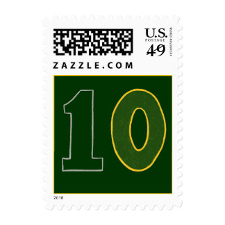 Cool Number 10, Birthday postage stamps, age ten