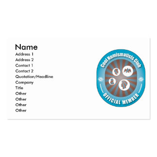 Cool Numismatists Club Business Cards