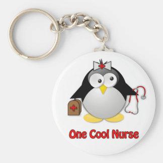 Cool Nurse Basic Round Button Keychain