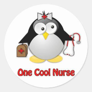 Cool Nurse Classic Round Sticker