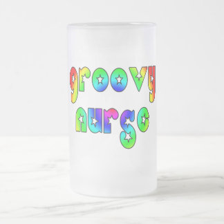 Cool Nurses Birthday Christmas Party Groovy Nurse Coffee Mug