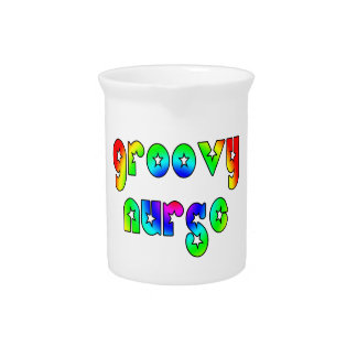 Cool Nurses Birthday Christmas Party Groovy Nurse Drink Pitcher