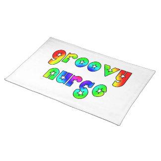 Cool Nurses Birthday Christmas Party Groovy Nurse Place Mat