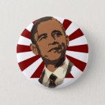 Cool Obama Retro Rays Button