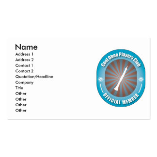 Cool Oboe Players Club Double-Sided Standard Business Cards (Pack Of 100)