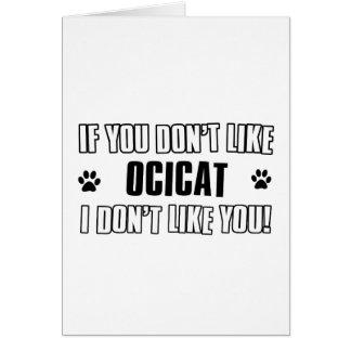 Cool OCICAT cat designs Card