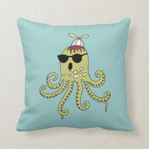 Cool octopus throw pillow zazzle for Cool couch pillows