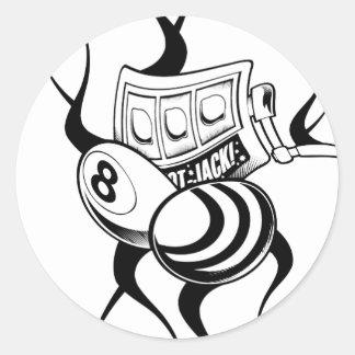 Cool Odd Bee Design Classic Round Sticker