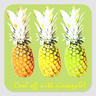 Cool Off With Pinapple Square Sticker