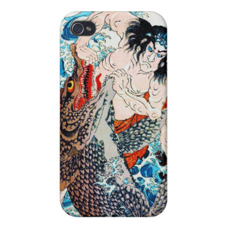 Cool oiental Legendary Hero Giant Fish fight iPhone 4 Cover
