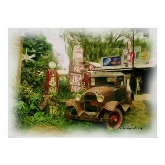 Cool Old Car Poster