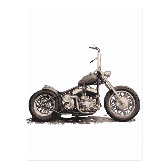 Cool Old Motorbike Postcard