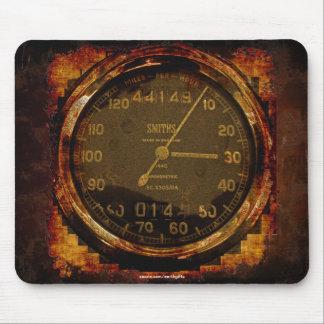 Cool Old Race Bike Speedometer Grunge Art Mousepad