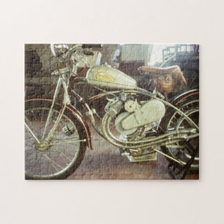 Cool Old Vintage Motorized Bicycle Jigsaw Puzzle