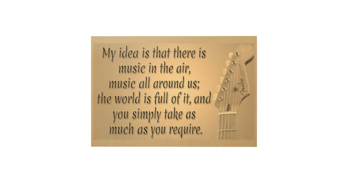 Cool Oldies Music Quote Inspirational Music Saying Wood Wall Art Zazzle Com