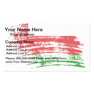 Cool Omani flag design Business Card Template