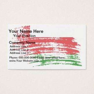 Cool Omani flag design Business Card