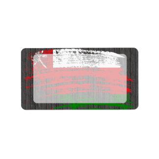 Cool Omani flag design Label