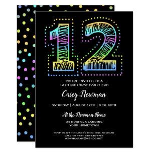 12th Birthday Invitations Zazzle