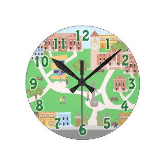 Cool on Campus Round Clock