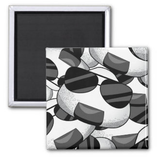 Cool onigiri pattern 2 inch square magnet