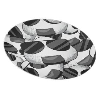 Cool onigiri pattern melamine plate