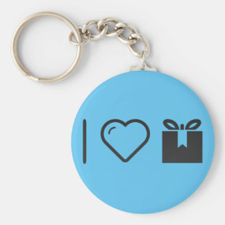 Cool Open Giftboxes Basic Round Button Keychain