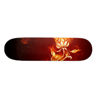 Cool Orange and Yellow Fire Flower Fire Rose Skateboard