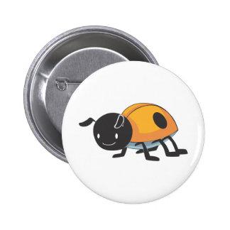 Cool Orange Baby Ladybug Cartoon Pins