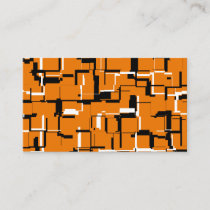 COOL Orange Black White Business Card