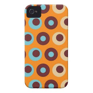 Cool Orange Blue Brown Circles Polka Dots Pattern iPhone 4 Case-Mate Case