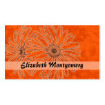 Cool Orange Daisy Spa Appointment Business Card Business Cards