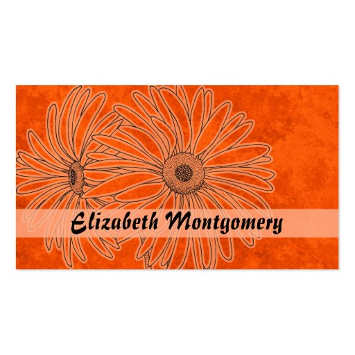 Cool Orange Daisy Spa Appointment Business Card