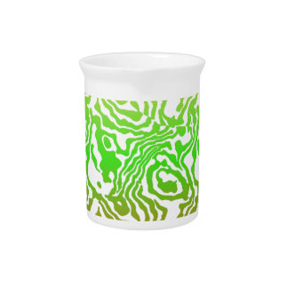 Cool Orange Green and Yellow Design Drink Pitchers