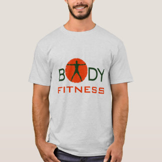 Cool Orange Green Body Madness Sports and Fitness T-Shirt