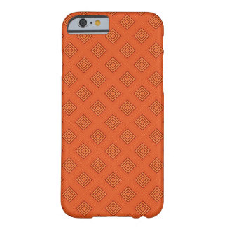 Cool Orange Square Geometric Pattern Barely There iPhone 6 Case