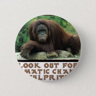 cool Orangutan designs Button