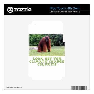 cool Orangutan designs iPod Touch 4G Skin