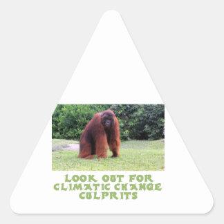 cool Orangutan designs Triangle Sticker