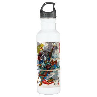 Cool orental japanese Legendary Samurai Bushi art Stainless Steel Water Bottle
