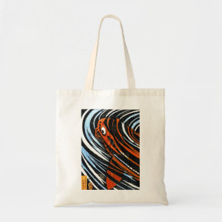 Cool oriental ancient legendary koi fish carp art tote bag