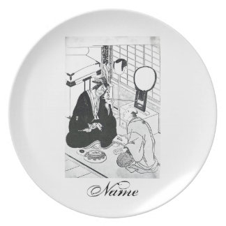 Cool Oriental Art Traditional JApanese ink Dinner Plate