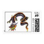 Cool Oriental  Black Dragon  tattoo theme stamp