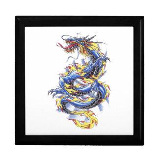 Cool Oriental Blue  Dragon tattoo gift box