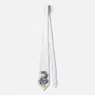 Cool Oriental Blue  Dragon   tie
