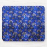 Cool  oriental blue pattern mousepad