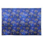 Cool  oriental blue pattern placemat