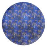 Cool  oriental blue pattern  plate