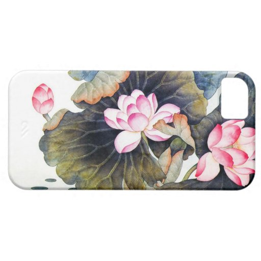 Cool oriental chinese beautiful lotus leaf butterf iPhone 5 cover