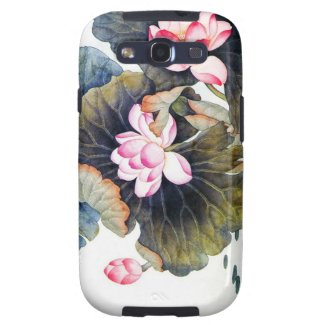 Cool oriental chinese beautiful lotus leaf butterf galaxy s3 cases